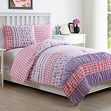 image of lily reversible comforter set in pink