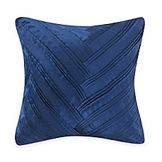 image of Vince Camuto® Lyon Signature V Square Throw Pillow in Blue