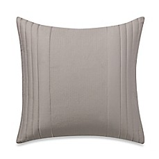 image of Vera Wang Home Bamboo Leaves Square Throw Pillow in Grey Putty