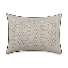 image of Vera Wang Home Bamboo Leaves Circle Breakfast Throw Pillow in Wheat