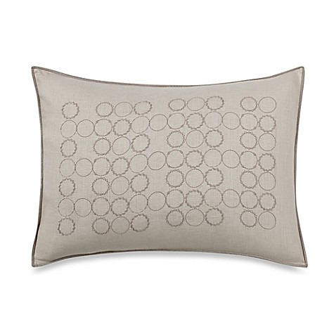 Vera Wang Home Bamboo Leaves Circle Breakfast Throw Pillow in Wheat