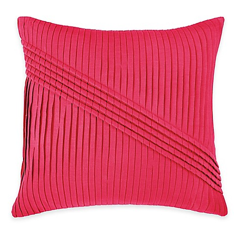 Square Throw Pillow Pattern : Buy Rizzy Home Pleated Pattern Square Throw Pillow in Hot Pink from Bed Bath & Beyond