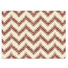 image of Design House LA Chevron Striped Cork Back Placemats in Red (Set of 2)