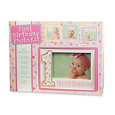 image of CR Gibson Baby's First Birthday Photo Prop Kit in Pink