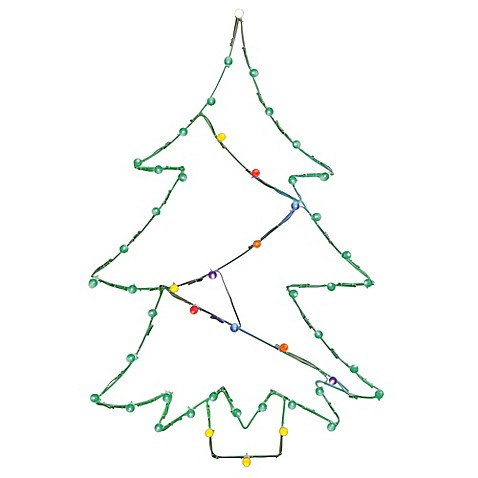 vickerman 48 inch pre lit wire christmas tree outdoor decoration rh bedbathandbeyond com christmas decorations made from wire diy outdoor christmas presents