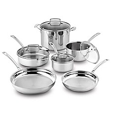 image of Cuisinart® Kitchen Pro™ Induction Stainless Steel 10-Piece Cookware Set