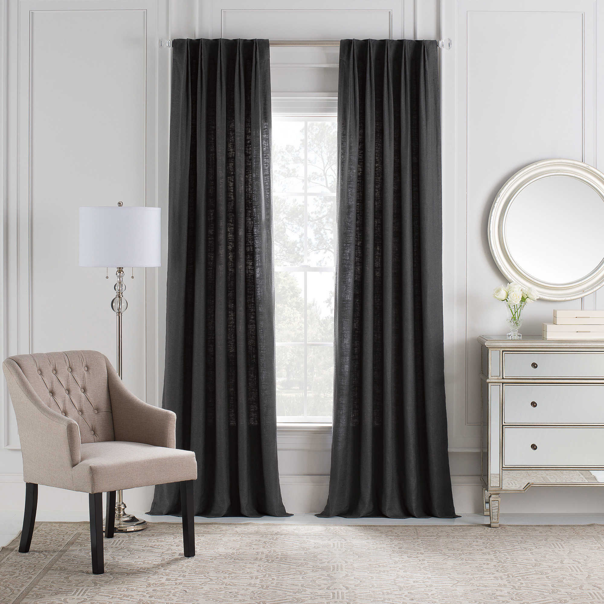 Home gt features amp occasions gt blackout curtains blackout luxury - Cambria Reg Malta Euro Pleat Back Tab Window Curtain Panel
