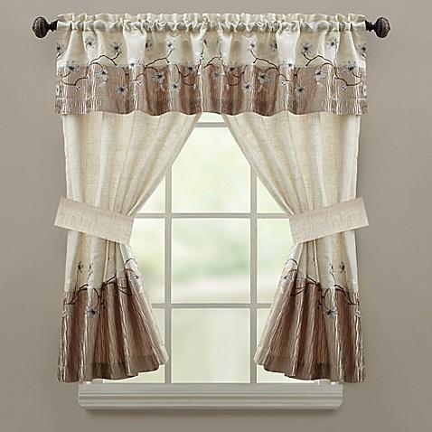 Croscill 174 Magnolia Bath Window Curtain Panel And Valance