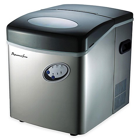 33 lb. Portable Ice Maker in Stainless Silver - Bed Bath & Beyond