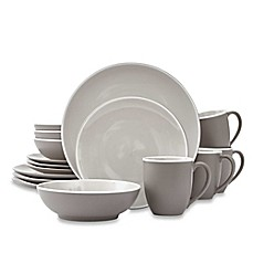 image of Noritake® ColorTrio 16-Piece Coupe Dinnerware Set in Clay