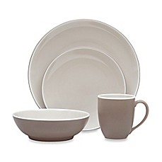 image of Noritake® ColorTrio 4-Piece Coupe Place Setting in Clay