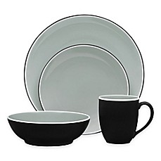 image of Noritake® ColorTrio 4-Piece Coupe Place Setting in Graphite
