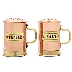 image of Old Dutch International Copper Small Salt and Pepper Shaker Set