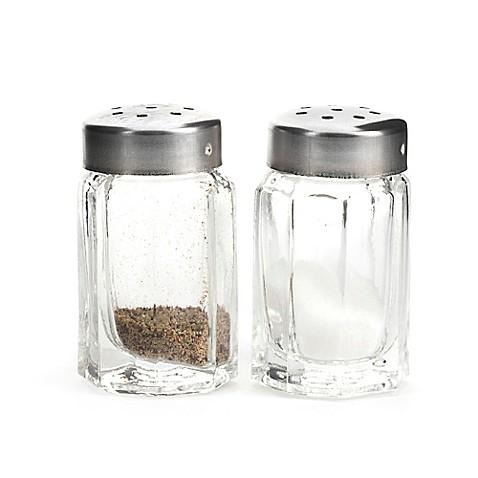 Kikkerland design mini salt and pepper shakers bed bath Designer salt and pepper shakers