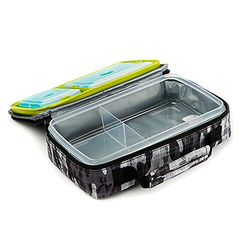 fit and fresh bento lunch box kit in black and white camo bed bath beyond. Black Bedroom Furniture Sets. Home Design Ideas