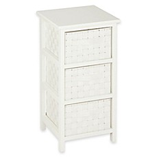 Image Of Honey Can Do 3 Drawer Woven Strap Storage Chest In