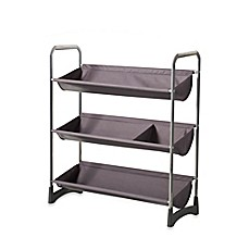 image of 3-Tier Stackable Sport Shelf Unit in Silver