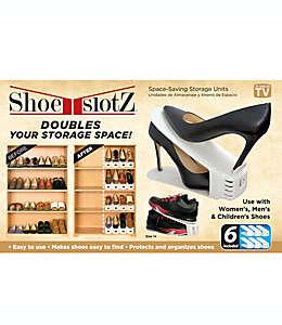 Organizador de zapatos Shoe Slotz™, en marfil, Set de 6