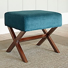 image of Chatham House Upholstered Ottoman with Wood Legs