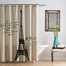 Image Of Anthology Paris Cotton Shower Curtain