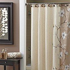 image of croscill magnolia shower curtain