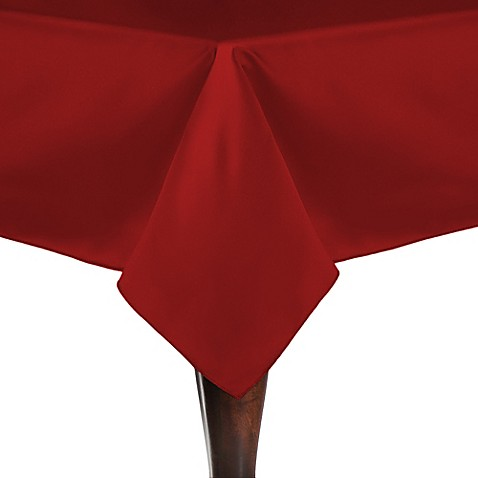 Buy Duchess 54-Inch Square Tablecloth in Red from Bed Bath ...