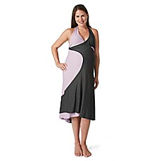 image of Pretty Pushers® Transition Gown in Grey/Lavender