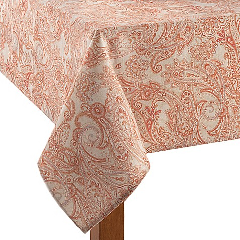 Tommy Bahama East India Paisley Tablecloth In Natural
