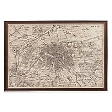 Image Of Bassett Mirror Company Map Of Paris Wall Art