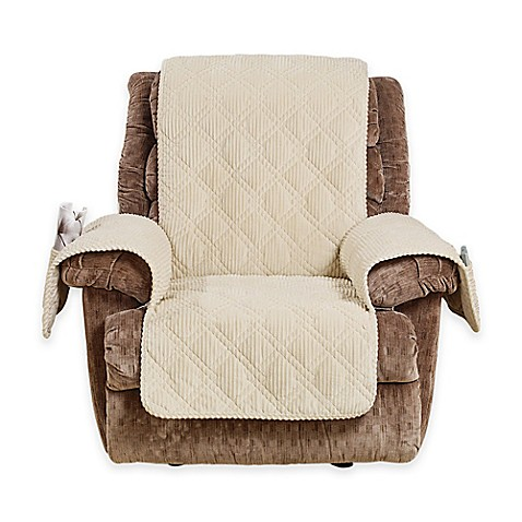Buy Sure Fit 174 Wide Wale Corduroy Recliner Cover In Cream