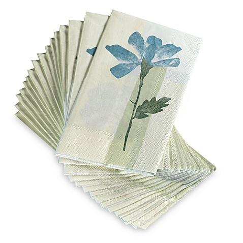 Croscill Spa Leaf Disposable Buffet Guest Towels Set Of 16 Bed Bath Beyond