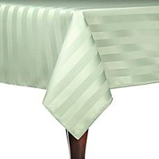 Genial Poly Stripe Indoor/Outdoor Tablecloth