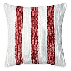 image of spun by welspun threads with a soul americana handcrafted throw pillow - Red Decorative Pillows