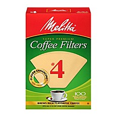 image of Melitta® 100-Count Number 4 Natural Brown Super Premium Coffee Filters