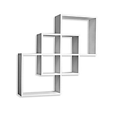 image of danya b squares wall shelf in white