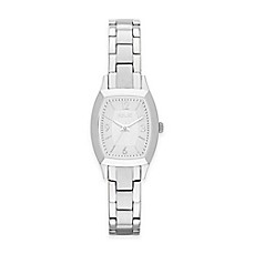 image of Relic® Everly Ladies' 20.5mm Rectangular Dial Watch in Silvertone Stainless Steel