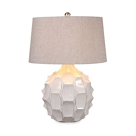 uttermost guerina white ceramic table lamp whether on the desktop or. Black Bedroom Furniture Sets. Home Design Ideas