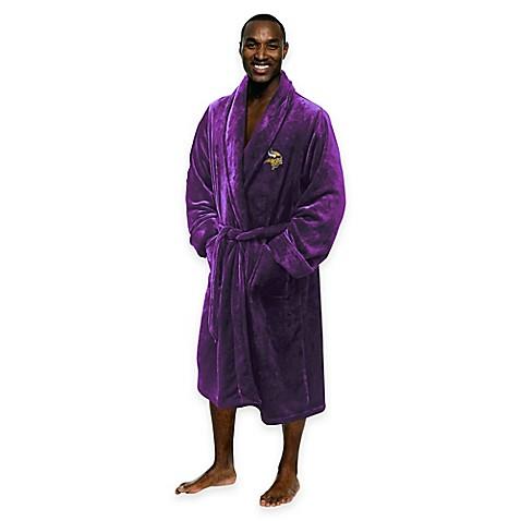 NFL Minnesota Vikings Menu0026#39;s Large/X-Large Silk Touch Bath  sc 1 st  Bed Bath u0026 Beyond & NFL Minnesota Vikings Menu0027s Large/X-Large Silk Touch Bath Robe - Bed ...