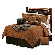 image of HiEnd Accents Cross Comforter Set in Brown