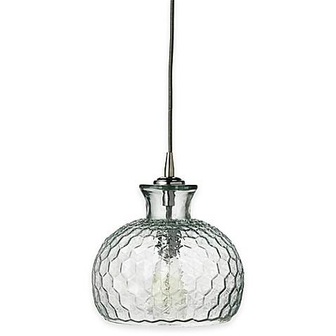Buy jamie young clark 1 light glass pendant in clear from for Jamie young lighting pendant