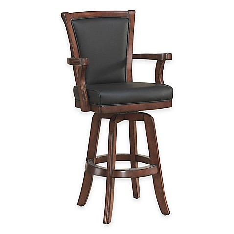American Heritage Auburn Bar Stool In Brown Suede Bed