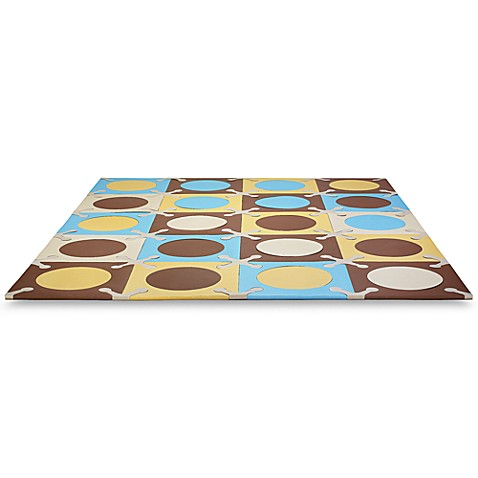 SKIP*HOP® Playspot Blue and Gold Interlocking Foam Tiles - buybuy BABY