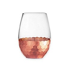 image of Fitz and Floyd® Daphne Stemless Wine Glasses in Copper (Set of 4)