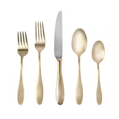 image of Towle® Living Ashwell Gold 20-Piece Flatware Set