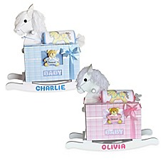 image of Silly Phillie® Creations Keepsake Rocking Horse Baby Gift Set