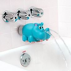 image of Nûby™ Hippo Water Spout Cover in Blue