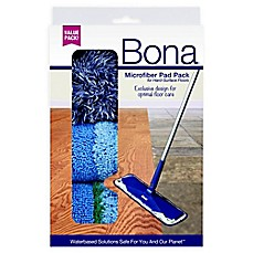 image of Bona® 3-Pack Microfiber Cleaning Pads in Blue