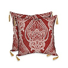 image of Bombay® Delhi Paisley Outdoor Throw Pillows in Red