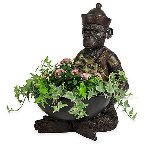 Bombay® Gallant Monkey Outdoor Planter
