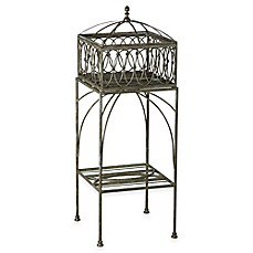 image of Bombay® Lyon Outdoor Filigree Planter and Stand